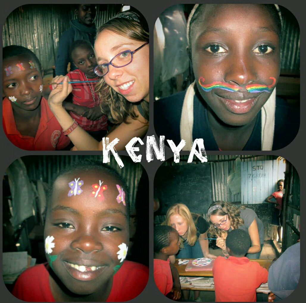 I had so much fun face painting in Kenya (especially the rainbow mustache)!