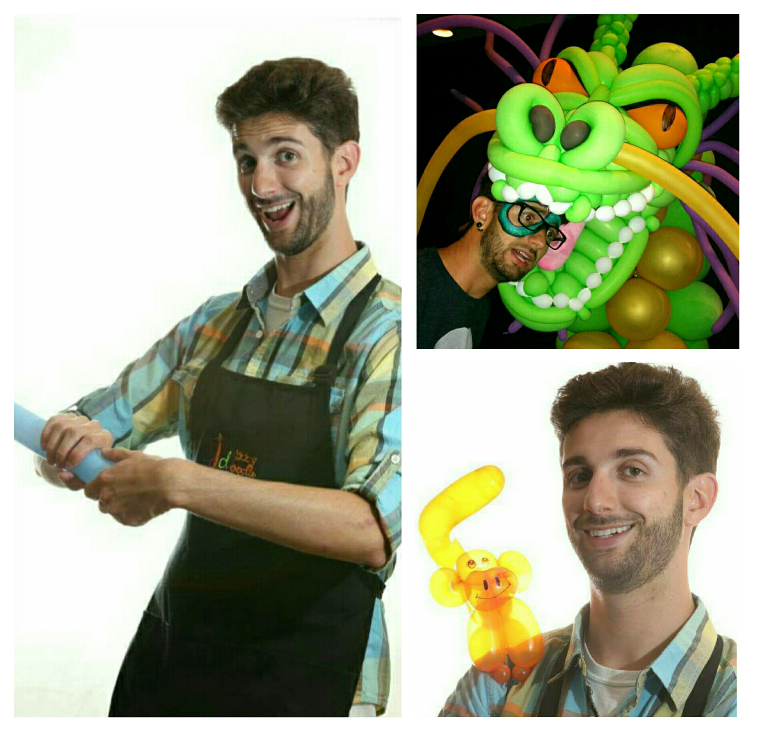 Chris Whisker the Balloon Twister is (you guessed it!) our balloon twister and balloon decor maker.