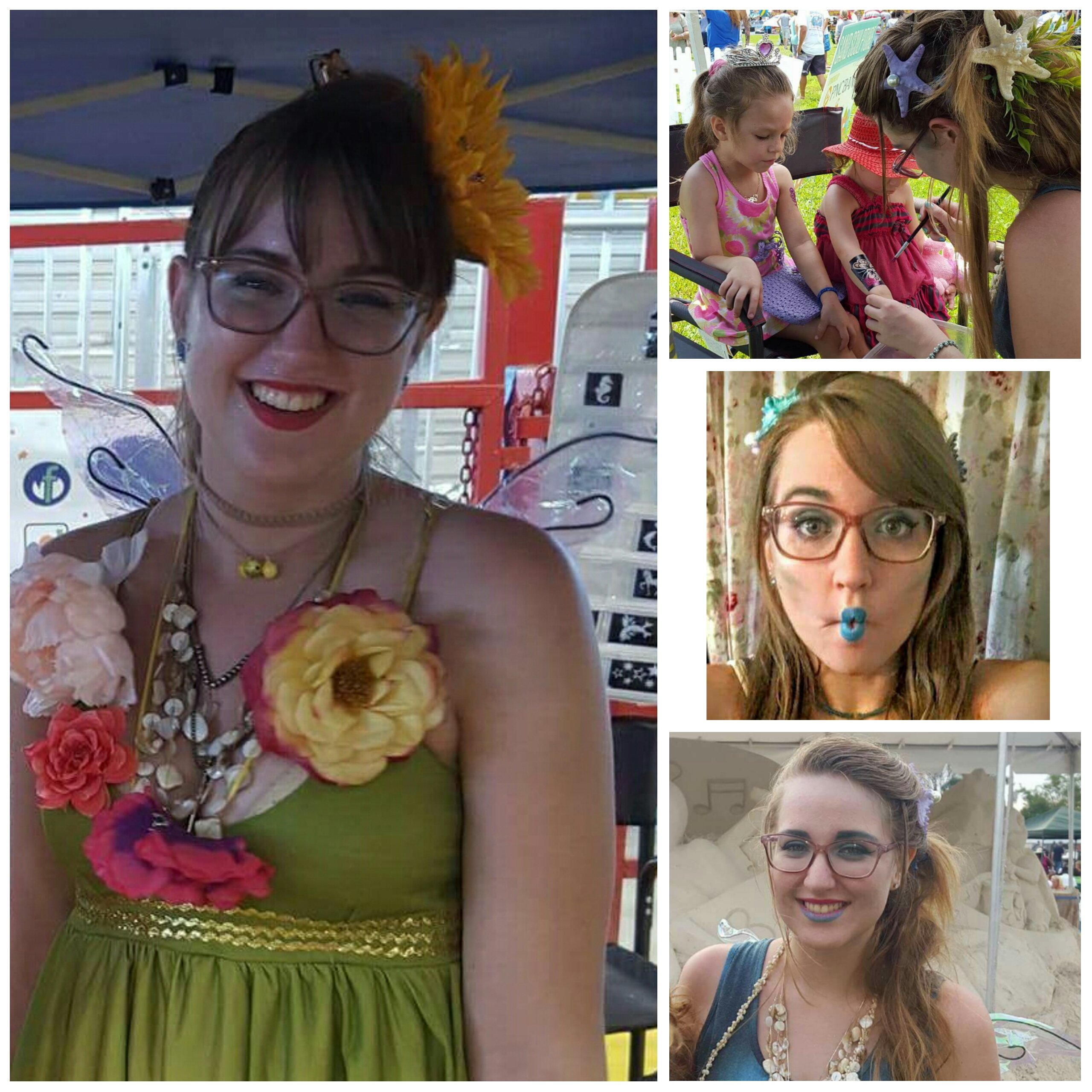 Whitli is our quirky, spunky glitter tattoo artist for festivals and other events. She's loves all things that sparkle, unicorns, mermaids, and fairies!