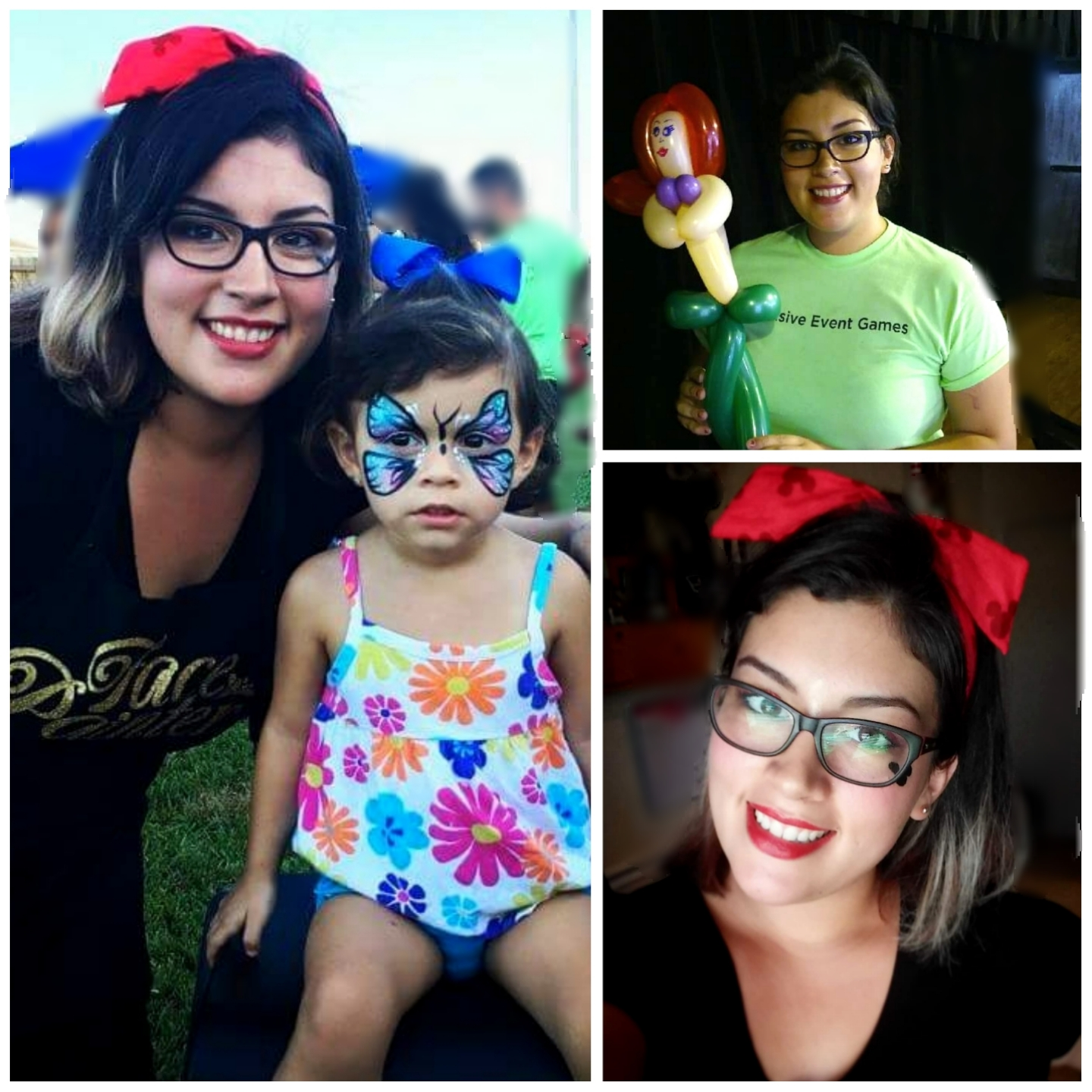 Luvia is devoted to get craft of balloon twisting, face painting, henna, and glitter tattoos.